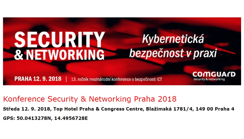 Konference Security & Networking Praha 2018