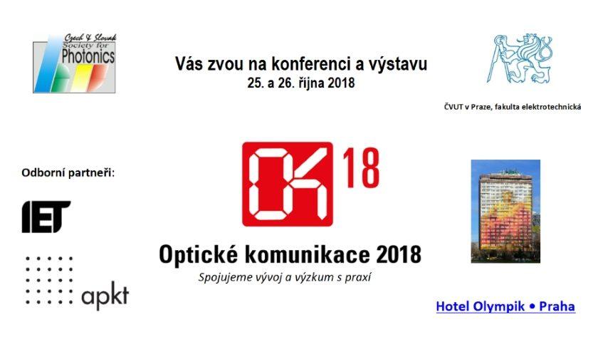 Optické komunikace 2018