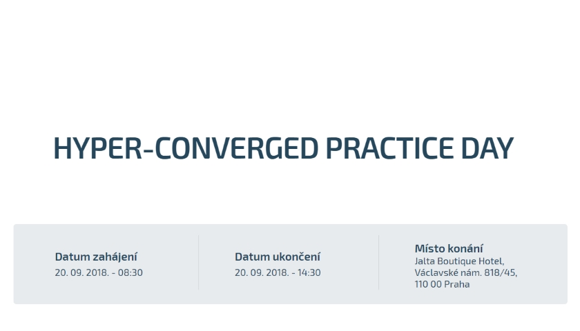 HYPER-CONVERGED PRACTICE DAY