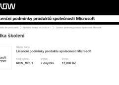 Licenční podmínky produktů společnosti Microsoft