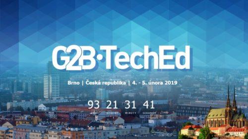Přijďte se přiučit na G2B•TechEd