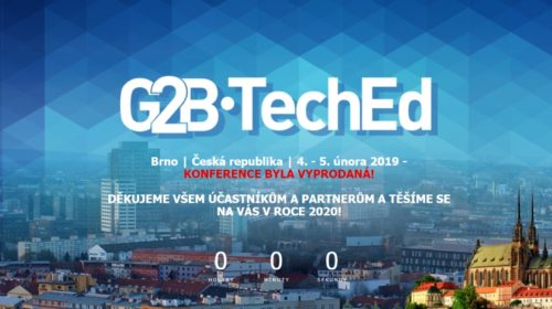 Konference G2B•TechEd 2019