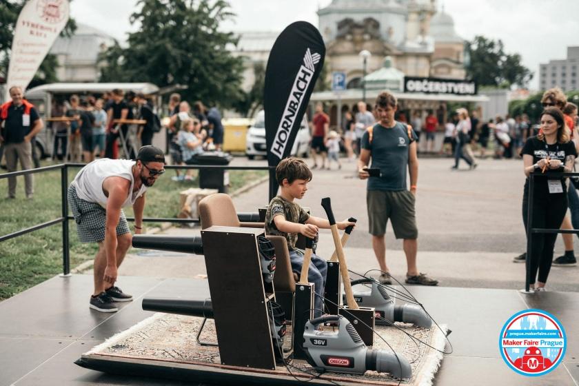 Maker Faire Prague letajici koberec EWNN