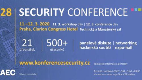 Konference Security 2020 se zaměří na skutečné bezpečnostní incidenty