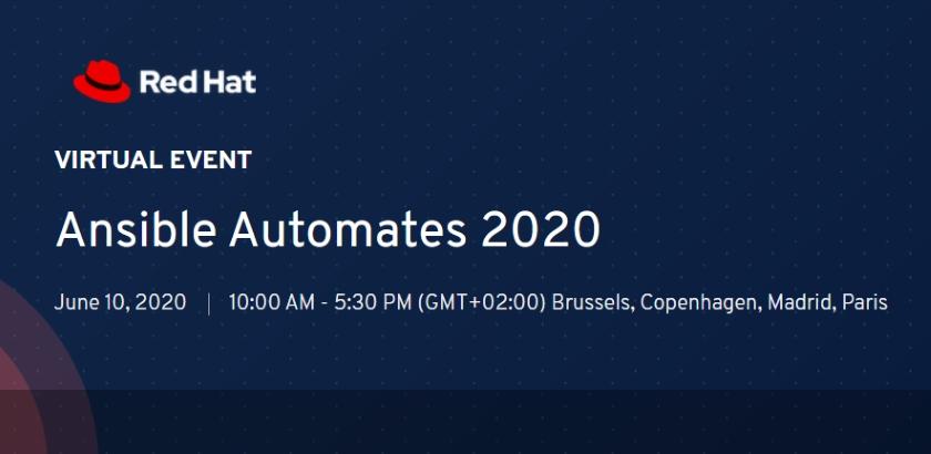 Ansible AUTOMATES 2020 Virtual roadshow