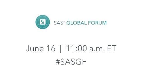 Virtuální SAS Global Forum 2020