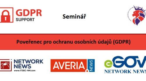Seminář: Pověřenec pro ochranu osobních údajů (GDPR)