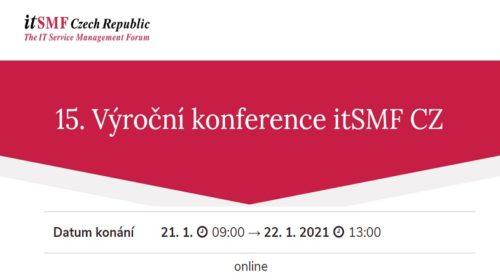 15. výroční konference itSMF Czech Republic bude online