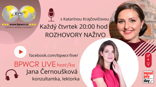 BPWCR LIVE už zítra s Janou Černouškovou
